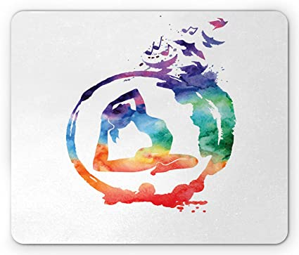 Amazon.com: Ambesonne Yoga Mouse Pad, Rainbow Watercolors ...