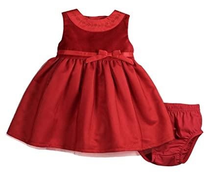 e3584dca431 Image Unavailable. Image not available for. Color  Carter s Baby Girls Red  Velvet Dress Set 6 Months