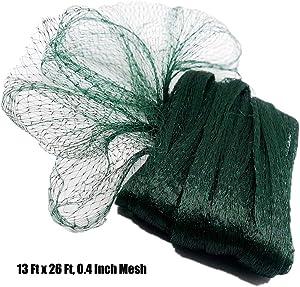 POYEE 11 Bird Netting for Garden-13, Nylon Gard, 13 Ft x 26 Ft, 0.4 Inch Mesh