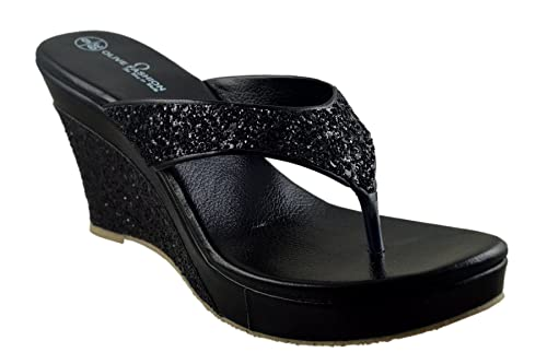 Olive Fashion Women Black Wedges  Buy Online at Low Prices in India ... 9319c165ef