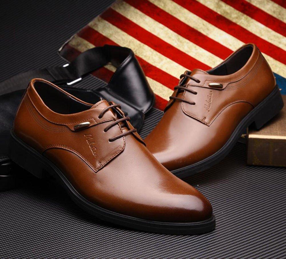 CAI Herren Formelle Schuhe Vier Jahreszeiten Neue Neue Neue Herren Business Kleid Schuhe British LUN Runde Kopf Schuhe Low-Top Lace-up Büro Party Freizeitschuhe (Farbe   Braun Größe   40) 972ed3
