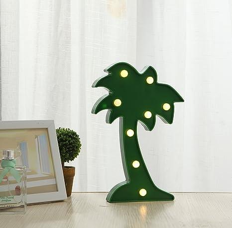 L/ámpara de mesa rom/ántica con forma de /árbol de coco y luces LED de noche para el hogar o la Navidad