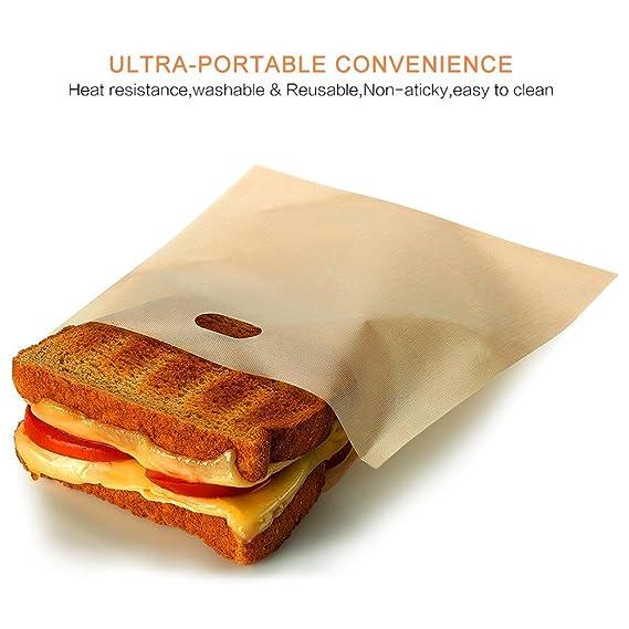 Bolsas de tostadora reutilizable, lxmao Sandwich almuerzo ...