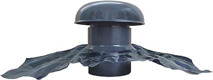 Ventilation toiture Gris ardoise Chapeau de ventilation avec bande plomb /Ø100mm
