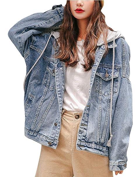 Amazon.com: Omoone - Chaqueta con capucha para mujer: Clothing