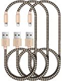 Zeuste【3本セット1.5M*3本】屈曲耐性高いナイロン ライトニング USBケーブル 充電ケーブル USBデータ転送ケーブル コンパクト端子