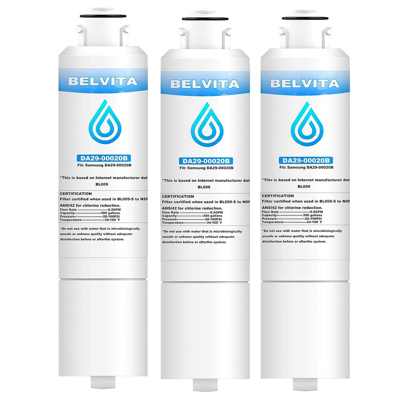 DA29-00020B Replacement Refrigerator Water Filter, Compatible with Samsung DA29-00020B, DA29-00020A, HAF-CIN/EXP, 3 Pack