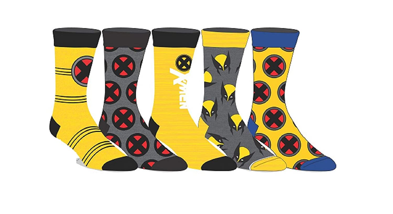 Marvel Comics Licensed Adult Crew Socks (Various Designs) (Deadpool)
