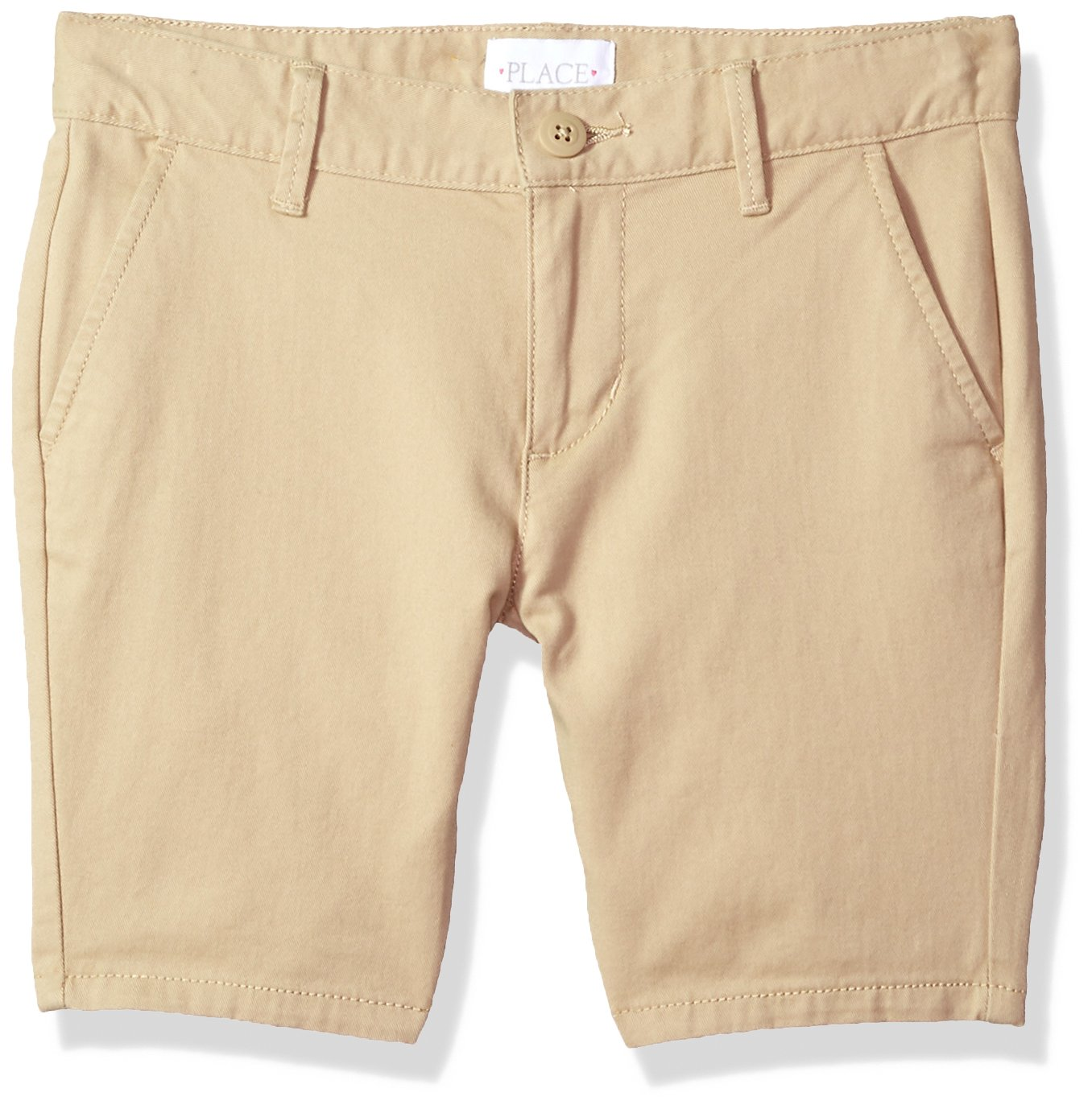 The Children's Place Big Girls' Uniform Shorts, Sandy, 6P