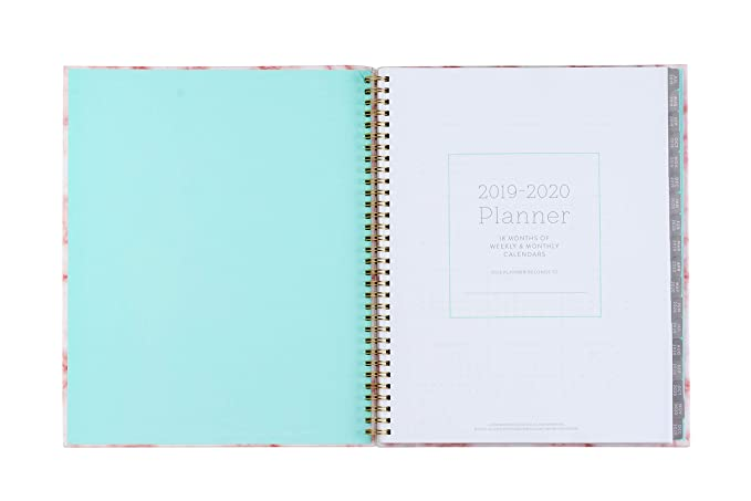 Amazon.com: 2019-2020 Eccolo Large Desk Size Spiral Agenda ...