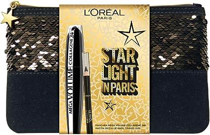LOréal Paris MakeUp - Estuche de regalo para mujer, máscara de volumen Mega, colágeno 24 h, lápiz de ojos, formato de viaje, superliner Le Khol: Amazon.es: Belleza