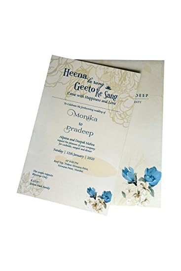 Single Sheet Invitation Card For All Occasions By Indian