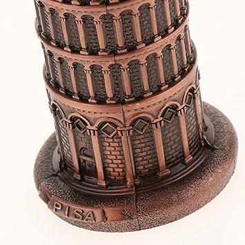 Retro Schiefer Turm von Pisa Architektur Modell Figur Dekofigur Dekoration