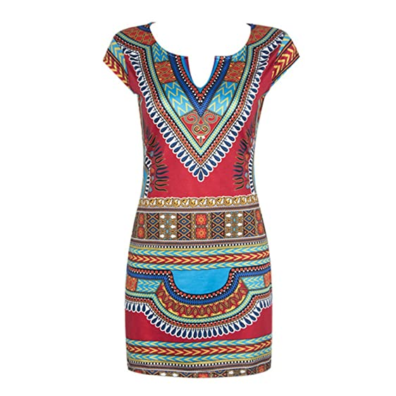 Eloise Isabel Fashion Mulheres verão camisa dress tunique femme vestidos sexy do vintage print dress boho