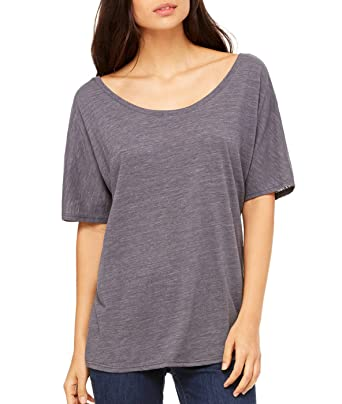 88412a31 Bella + Canvas Ladies Slouchy T-Shirt at Amazon Women's Clothing store: