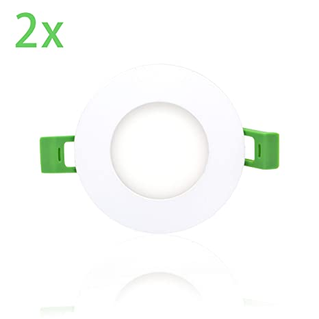 Pack x 2 Downlight led Placa LED Panel LED Redondo,12W Luz calida Chip 2835 [Clase de eficiencia energética A+] (3000K, 12W): Amazon.es: Iluminación