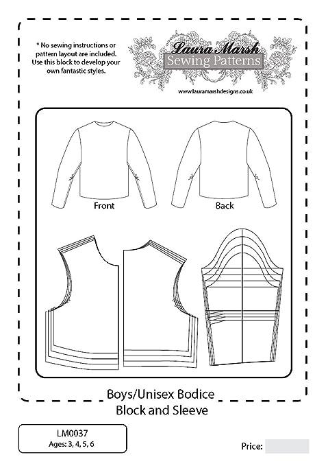 Basic Bodice Block With Sleeve Boysunisex Sewing Pattern Ages 3 6