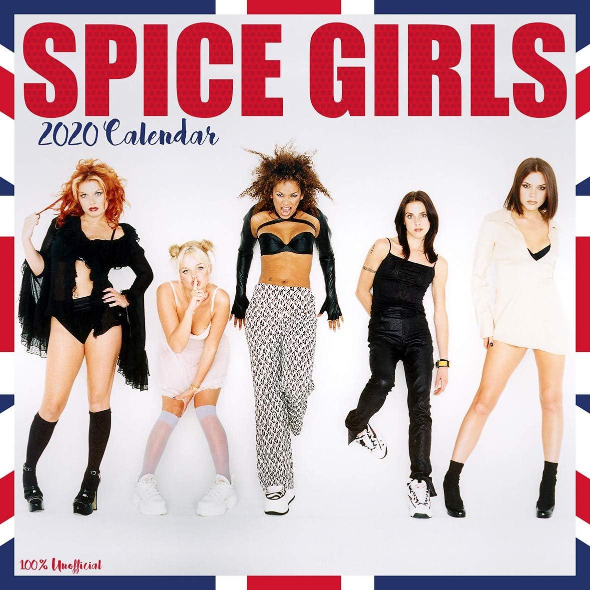 The Spice Girls 2020 - Calendario de pared de 12 x 12 cm, cuadrado, con póster de regalo de cumpleaños o Navidad