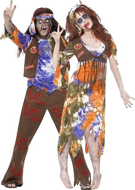 Parejas Hombre Y Mujer Zombie Hippy Hippie 60s 1960s Disfraces de ...