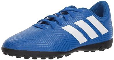 0078faf22 adidas Nemeziz Tango 18.4 Turf Soccer Shoe, White/Football Blue, 1.5 M US