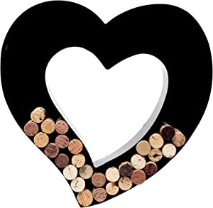 Wine Cork Holder - Metal Monogram Letter (Heart)
