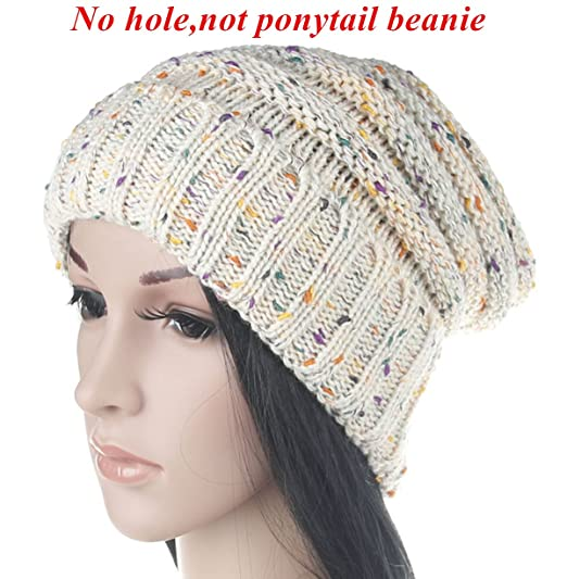 c43e6bf88b2 Men Women Warm Chunky Soft Oversized Stretch Cable Knit Slouchy Beanie Hat