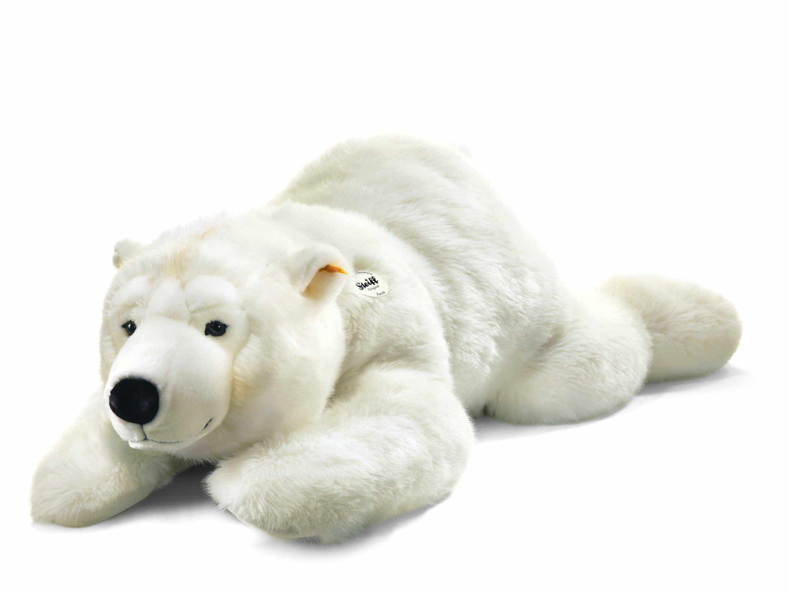 Steiff Arco Polar Bear Plush Animal Toy, White by Steiff