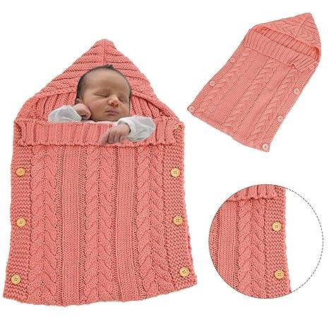 Bonice Maglia di lana sacco nanna Swaddle sacco nanna per bambini 0 – 12  mesi neonato 6a92610b5412