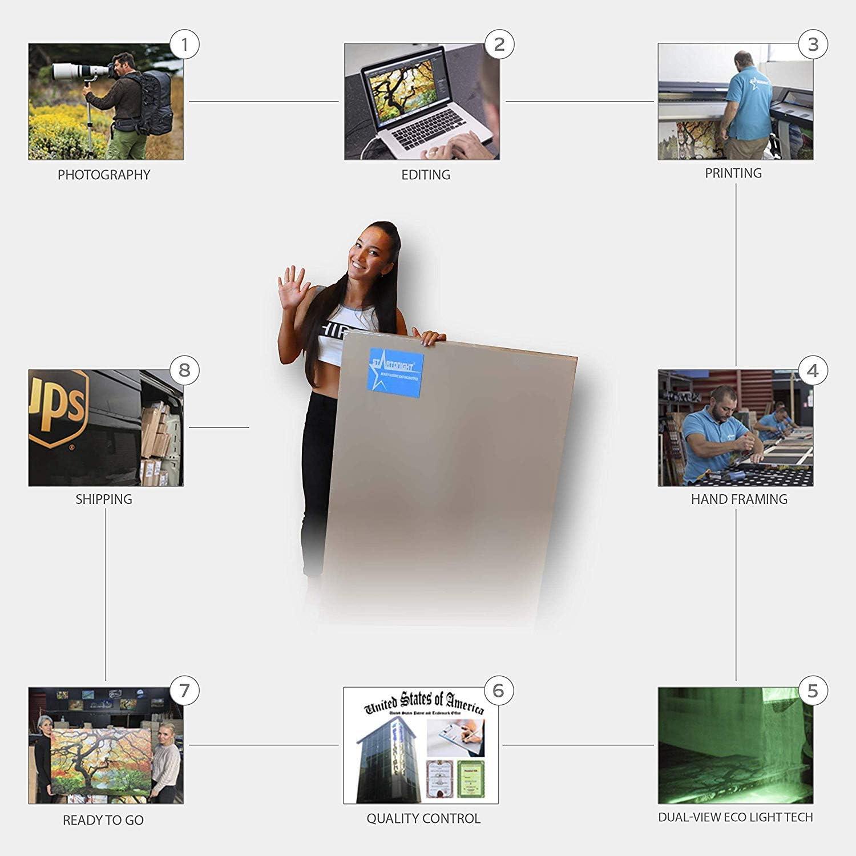 60 x H 60 cm Tableau Imprim/é sur Verre de synth/èse Plexiglas Carr/é Pr/êt /à accrocher Fl/ûte de Champagne L FORTE Impression D/écoration Murale 4 mm EP