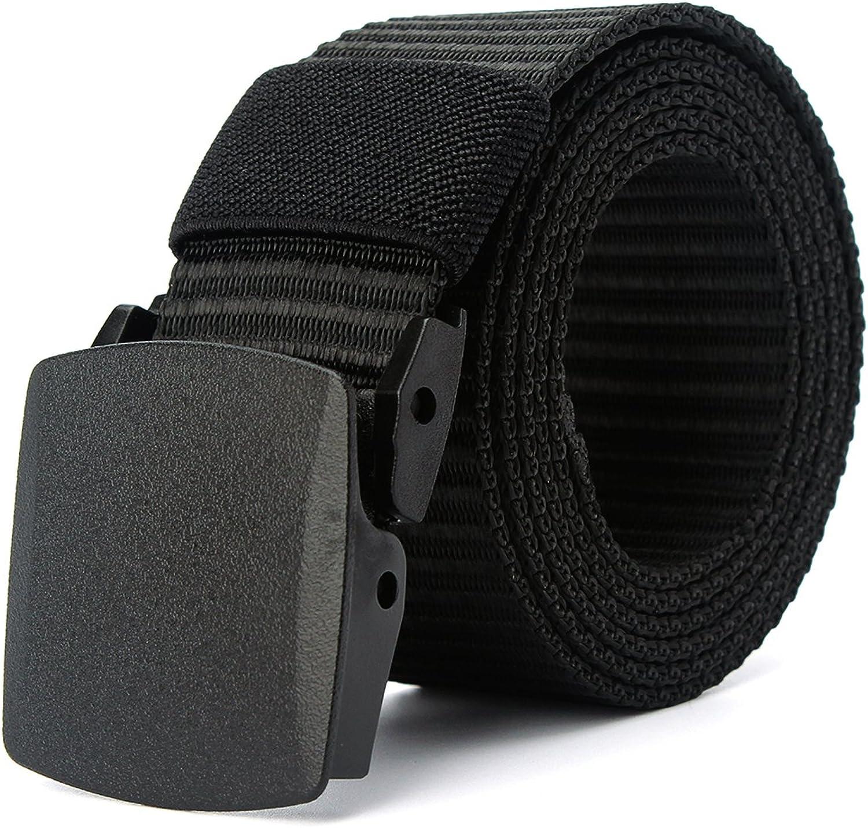 MinYuocom Hombre Cinturón Prevenir Alergia Nylon Lona Militar Táctico Plástico Hebilla MPD9010