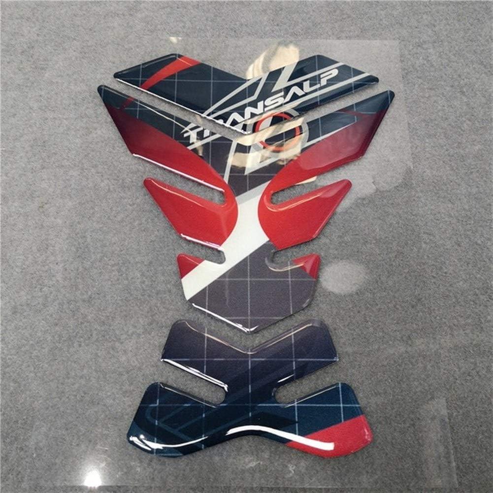 Color : Black Motorcycle For Honda TRANSALP Tank Pad Decorative Protector 3D Resin Sticker Pad Filler Reflective Tankpad