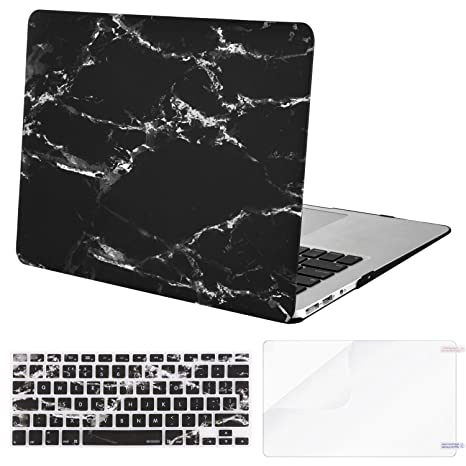 MOSISO Funda Dura Compatible MacBook Air 13 (A1369/A1466, Versión 2010-2017), Rígida Protector & Piel de Teclado de Mismo Color con Alfabeto Ingles & ...