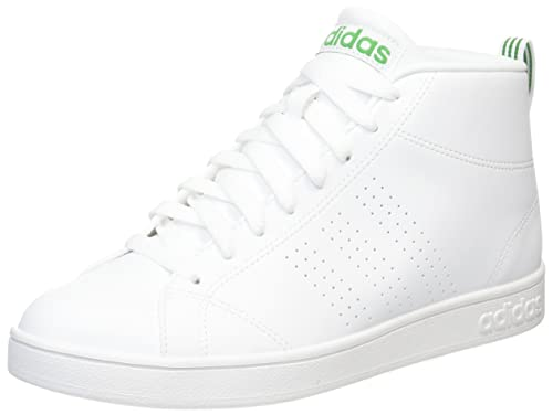 reputable site 0373f f7c9b adidas neo Mens Advantage Cl Mid FtwwhtFtwwhtGreen Sneakers - 7 UK