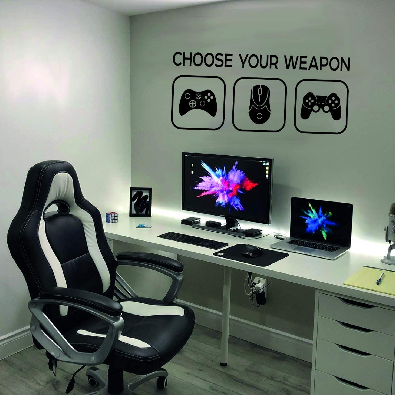 Choose Your Weapon Video Game Gaming Vinyl Decal Wall Sticker Mural Playstation Controllers Black Xbox