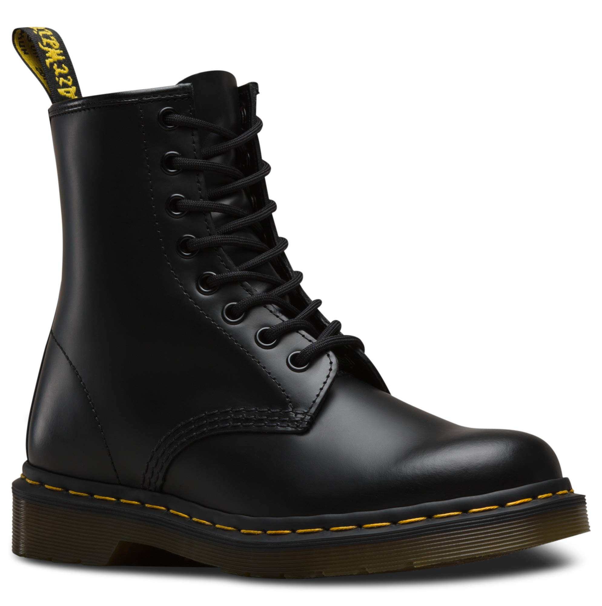 Dr. Martens 1460 Originals 8 Eye Lace Up Boot,Black Smooth Leather,6 UK (7 M US Mens / 8 M US Womens) by Dr. Martens