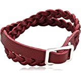 Pilgrim Jewelry Women's Bracelet Leather Silver-Plated Brass 40.0 CM Winter Bracelet 291346302 Red