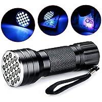 Flyme UV Flashlight Black Light, 21 LED 395 nM Ultraviolet Blacklight for Dog/Cat Urine, Stains Detector, Home/Hotel Inspection, Bed Bug Scorpion Detection