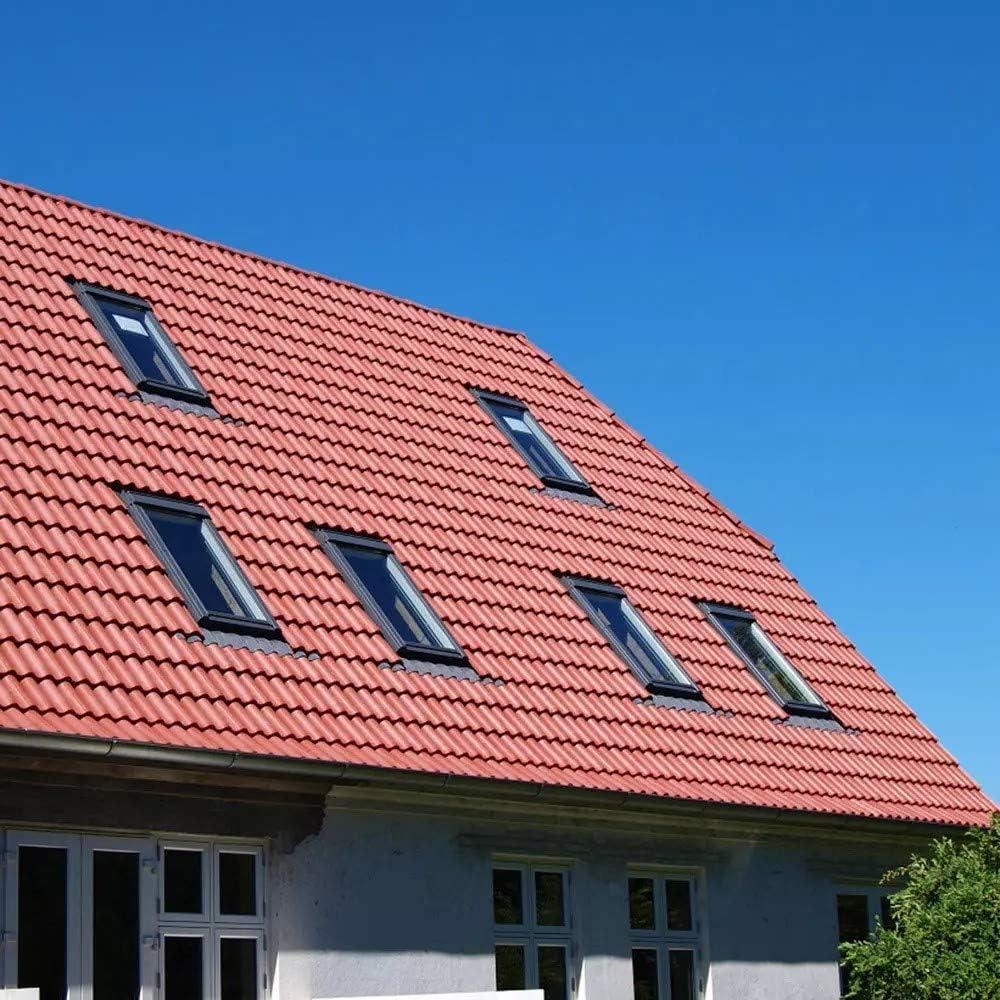 12 St/ück ca 2 qm Dachpfanne Dachziegel aus Kunststoff schwarz