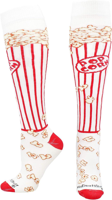 MadSportsStuff Popcorn Socks Over The Calf Length : Clothing