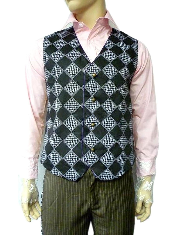 Mad Hatter Waistcoat Vest Costume - DeluxeAdultCostumes.com