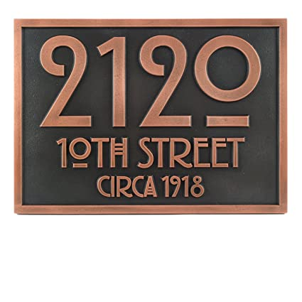 Amazon.com: Placa de direcciones Stickley 12,5 x 8,75 ...