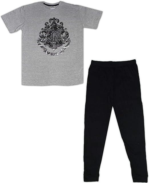 HARRY POTTER Pijama de algodón para Hombre Gris Gris XL: Amazon.es ...