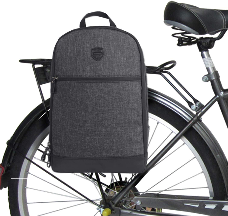 TOURBON Nylon Clip-On Bike Alforjas Mochila Mochila para portátil - Negro: Amazon.es: Deportes y aire libre