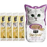 Kit-Cat Purr Puree Tuna & Scallop Wet Cat Treat Tubes 4x15g