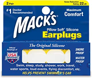 product image for Mack's Pillow Soft Earplugs White 2 Pairs (Pack of 3)
