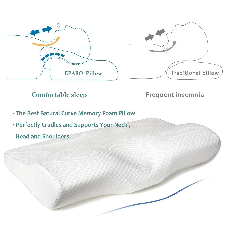 Epabo Contour Memory Foam Pillow Orthopedic Sleeping