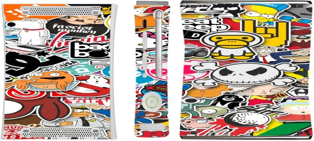 Popular Sticker Bomb Xbox 360 Vinyl Decal Sticker Skin by PersonalizedPrinting4u