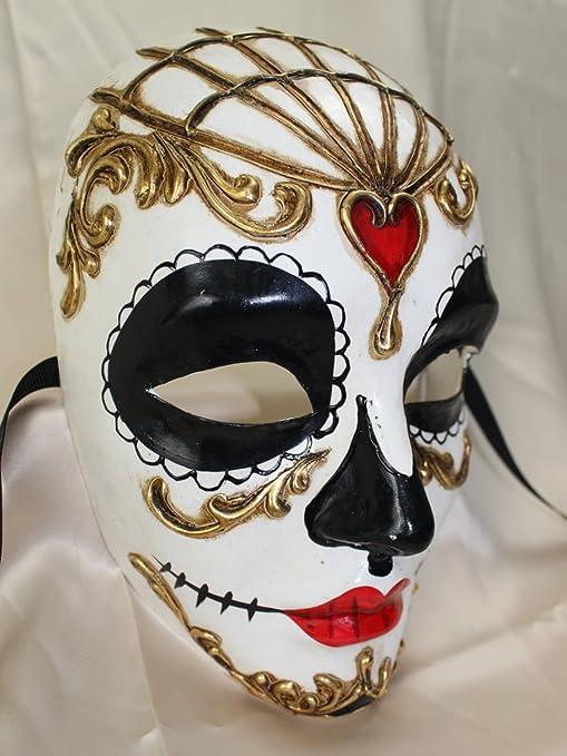Partynutters Ladies Volto Full Face día de los Muertos Tradicional ...