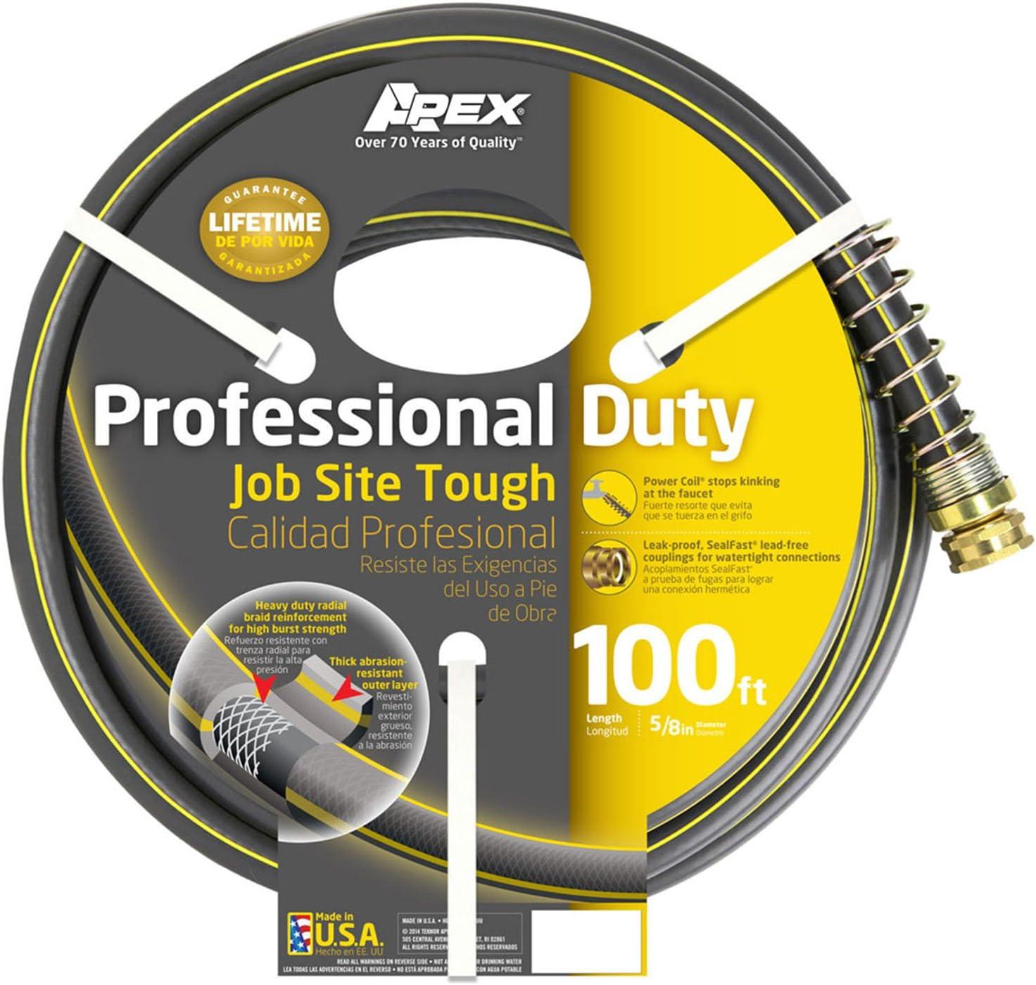 Apex 888VR-100 Professional Duty Garden Hose, 5/8-Inch by 100-Feet
