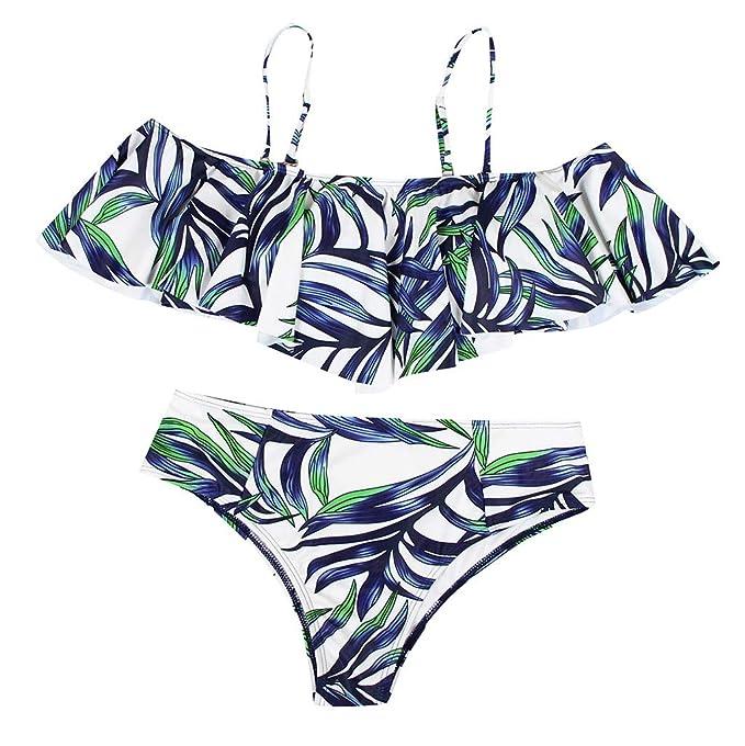 c60007df41e6 SMENGG Bikini Swimwear da Donna con Vita Alta e Bikini Abbigliamento  Femminile Costume da Bagno Beachwear